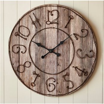 Pieced Wood Clock with Key Numbers