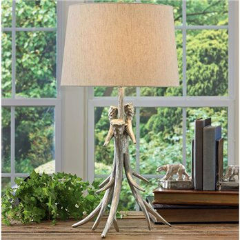 Antler Lamp with shade
