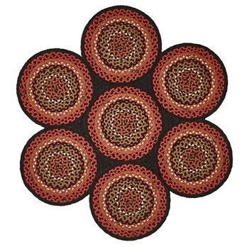 Folk Art 7 Circle Braid Rug 42