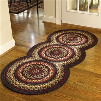 Folk Art Braided Rug Runner 30x72