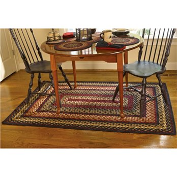 Folk Art Braided Rug 48x72