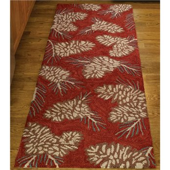 Pinecone Hook Rug Runner 24X72