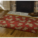 Pinecone Hooked Rug 48X72