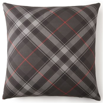 Poppy Plaid Euro Sham Plaid - Each