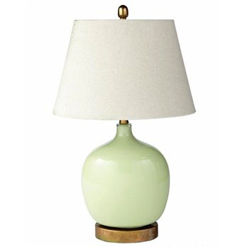 Green Oval Lamp With Shade