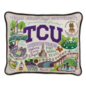 TCU Embroidered Pillow