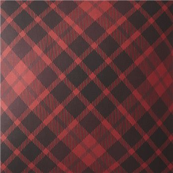 Toile Back In Black - Red Plaid