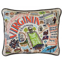 University of Virginia Embroidered Pillow
