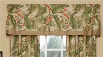 La Selva Natural Tailored Valance with Band
