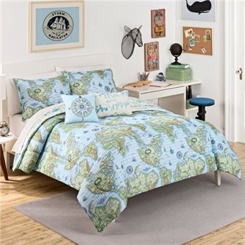 Waverly Kids Buon Viaggio Reversible Full/Queen Bedding Set
