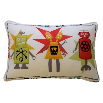 Waverly Kids Robotic Embroidered Decorative Pillow