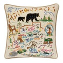Adirondacks Embroidered Pillow