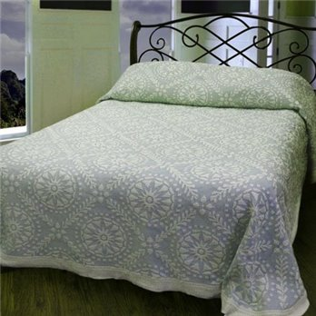 Americana Queen French Blue Bedspread