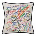 Arkansas Embroidered Pillow