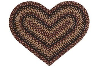Blackberry 20 X 30 Heart Rug