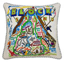 Block Island Embroidered Pillow