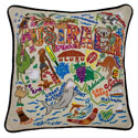 Australia Embroidered Pillow