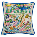 Emerald Coast Embroidered Pillow