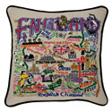 England Embroidered Pillow
