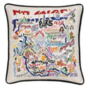 France Embroidered Pillow