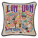 London Embroidered Pillow