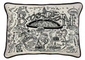 Boston Hand-Guided Machine Embroidered Pillow