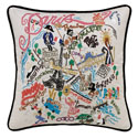 Paris Embroidered Pillow