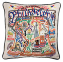Philadelphia Embroidered Pillow