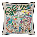 Seattle Embroidered Pillow