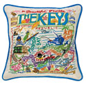 Florida Keys Embroidered Pillow
