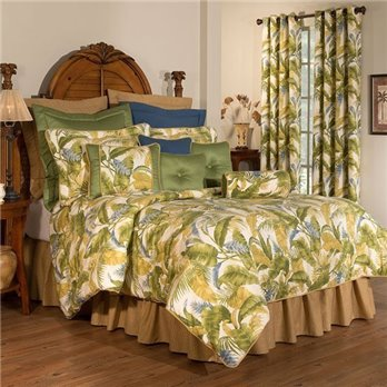 "Cayman Cal King Thomasville Comforter Set (15"" bedskirt)"