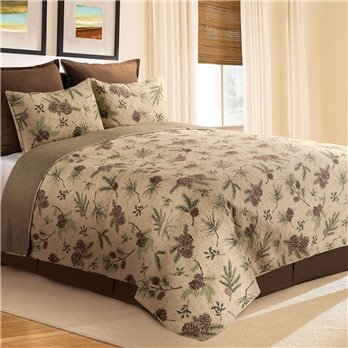 Woodland Retreat Full Queen 3 Piece Quilt Set