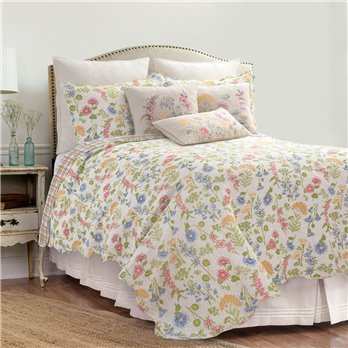 Jeanette Full Queen 3 Piece Quilt Set