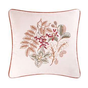 Amison Embroidered Square Pillow