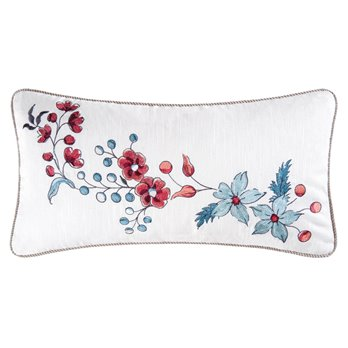 Adrienne Embroidered Flower Pillow