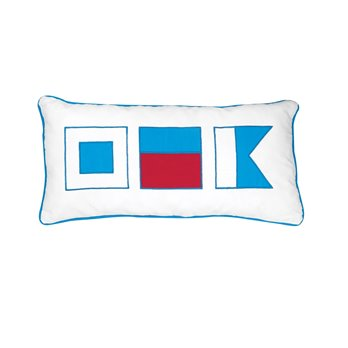 Windward Port Applique Flags Pillow