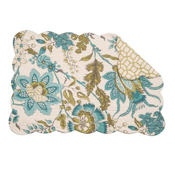 Adrienne Meadow Rectangular Quilted Placemat