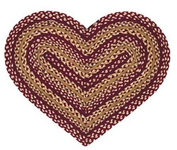 Checkerberry 20 X 30 Heart Rug