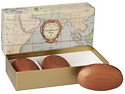 Caswell-Massey Sandalwood Woodgrain Soap set (3 x 5.8 oz) (04210)