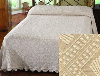 Colonial Rose King Linen Bedspread