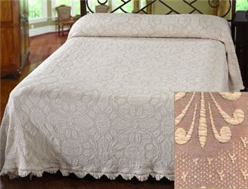 Colonial Rose King Maroon Bedspread