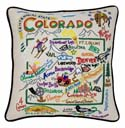 Colorado Embroidered Pillow