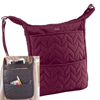 Lug Compass Shoulder Pouch - Cranberry Red