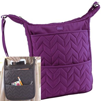 Lug Compass Shoulder Pouch - Plum Purple
