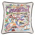 Connecticut Embroidered Pillow