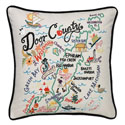 Door County Embroidered Pillow