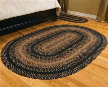 Ebony Oval 8 ft X 10 ft Rug