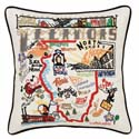 Illinois Embroidered Pillow
