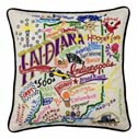 Indiana Embroidered Pillow