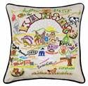 Kansas Embroidered Pillow